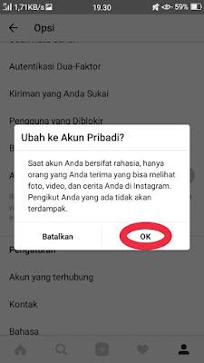 Cara Private Akun Instagram