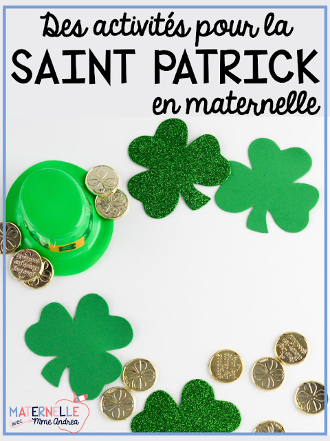 Looking for some fun activities for Saint Patrick's Day for your French primary classroom? Look no further! This blog post is full of great ideas, including some free ones!