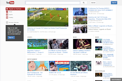 YouTube New Design 2012