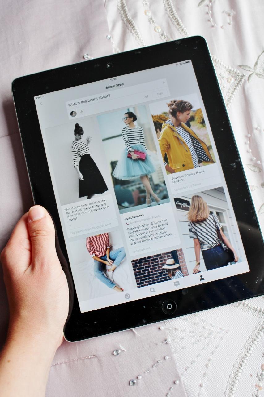Stripe Style Board on Pinterest