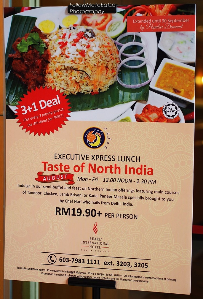 Executive Xpress Lunch With A Taste Of North India Promotion