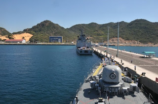 INS Kirch making alongside approach in Cam Ranh Bay harbour, Vietnam