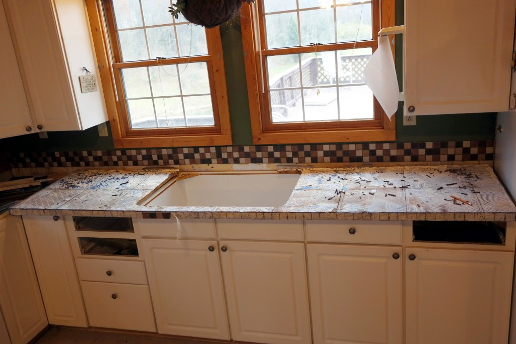 It's Raining Crafts & Dogs: Faux Butcherblock Countertops ? Part 3