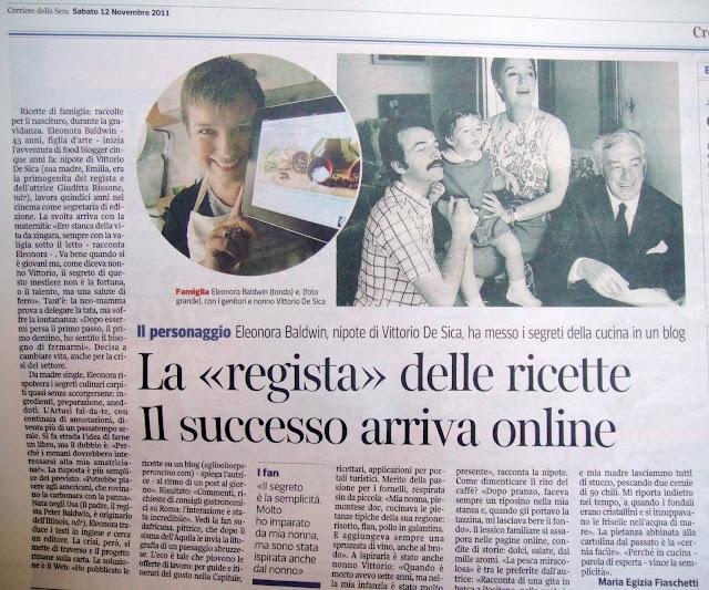 Interviewed on Corriere della Sera newspaper