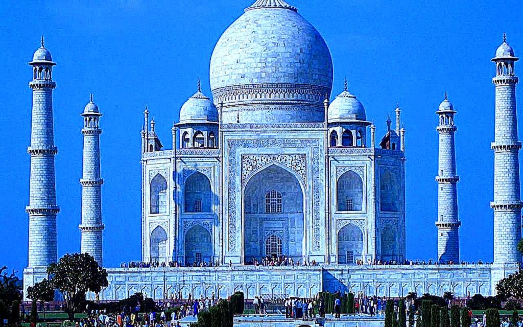Taj Mahal Agra India Desktop Wallpapers Hd