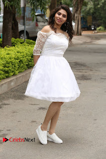 Actress Tejaswini Pictures in White Dress at Lachhi Teaser Launch  0200.JPG