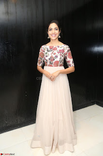 Ritu Varma smiling face Cream Anarkali dress at launch of OPPO New Selfie Camera F3 ~  Exclusive 002.JPG