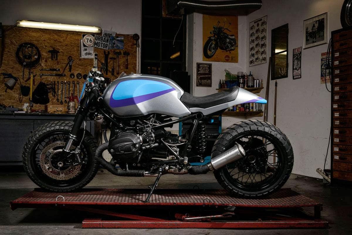 racing caf bmw r nine t track grinder by urban motor. Black Bedroom Furniture Sets. Home Design Ideas