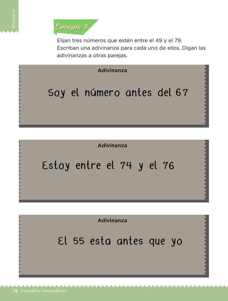 Adivina los números desafío 40 contestado libro desafíos matemáticos primer grado consigna 3 Adivinanzas