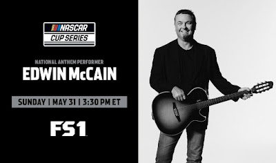 Edwin McCain will perform the national anthem before today's scheduled #NASCAR Cup Series race at Bristol Motor Speedway. #NASCARIsBack