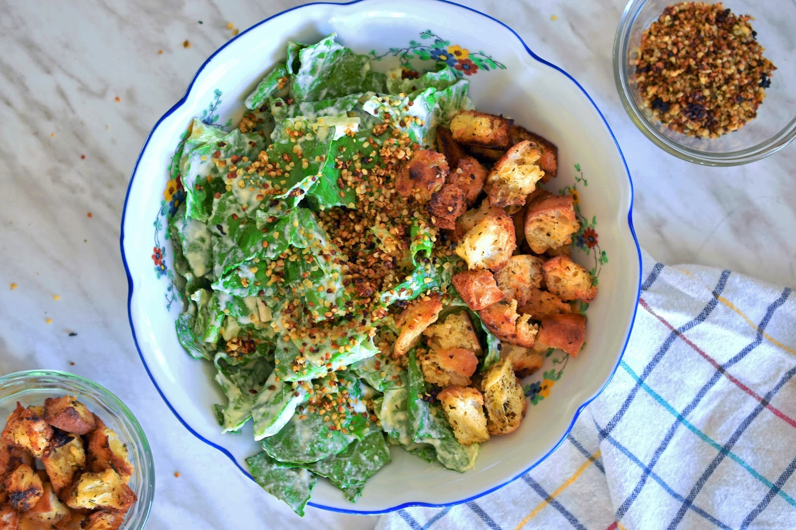 Woman in real lifethe art of the everyday salad samurai cookbook my kids love caesar salad so i thought it would be fun to present them with a vegan version that they hopefully could love forumfinder Choice Image