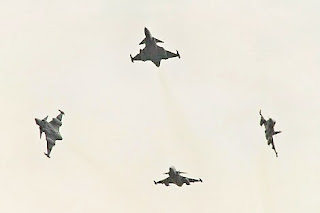 A group of SAAF Gripens in flight