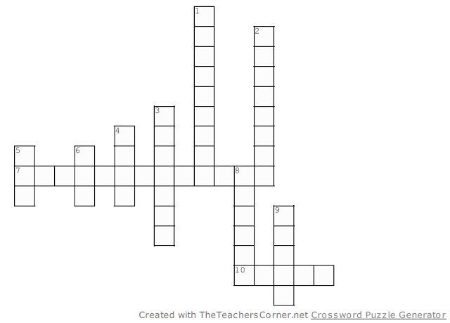 It's a crossword! For Midterms!