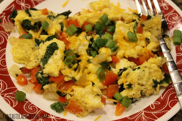 Breakfast Scramble #recipe #breakfast #meatless #eggs #scramble