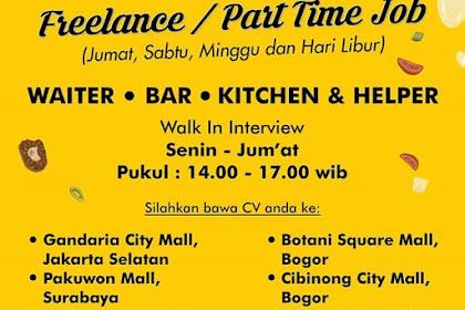 Lowongan Kerja Part Time Tangerang Sabtu Minggu