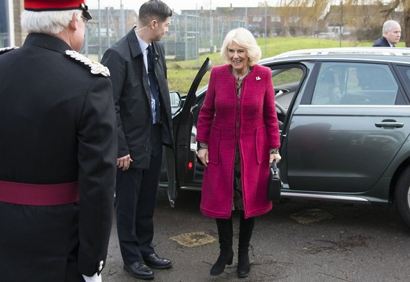 The Duchess of Cornwall visited North Swindon Library and the Lyndhurst Centre