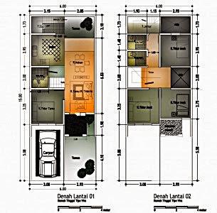50 Contoh Gambar Denah Rumah Minimalis Terbaru 2017