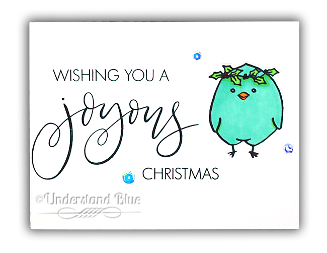 Bird Christmas Card by Understand Blue