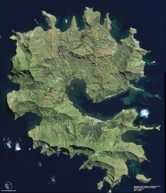 Rapa Iti Satelite imagery