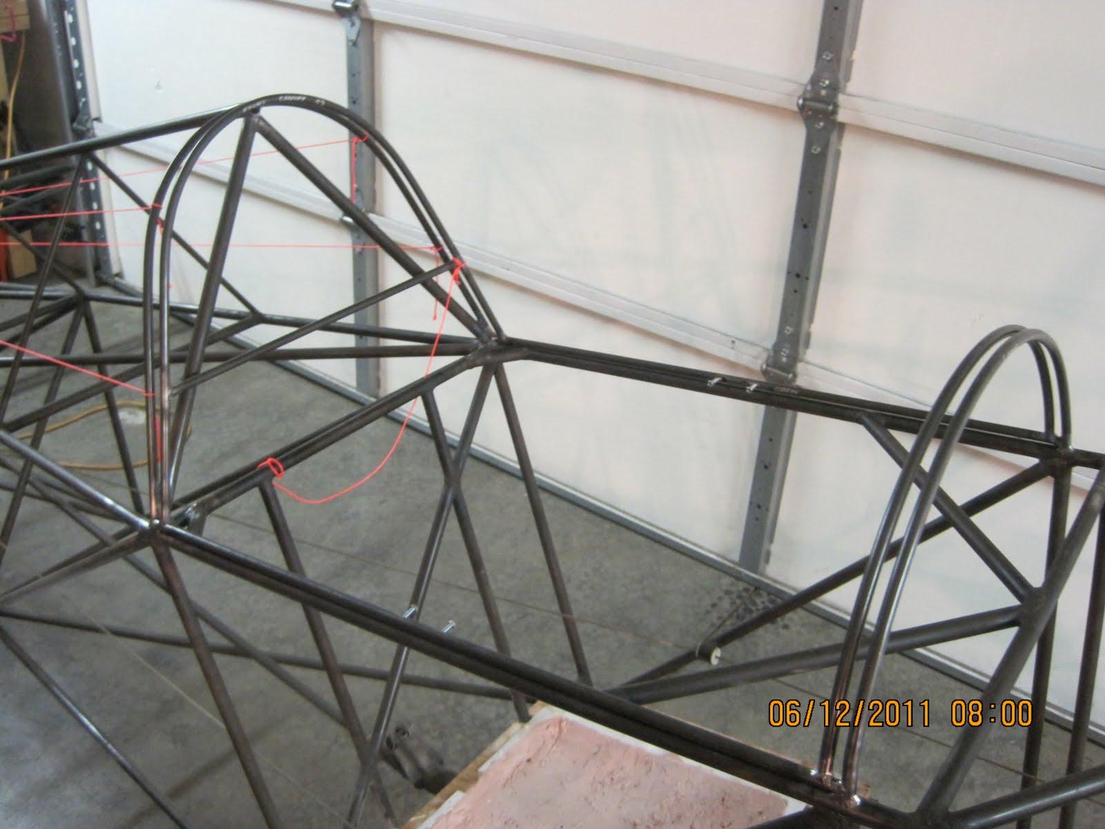 Sonerai 1 formula vee racer: Canopy frame