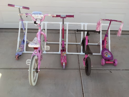 PVC Pipe Bike Rack by My Gems of Parenting