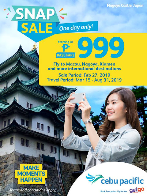 CEBU PACIFIC SEAT SALE AND PROMO FARES