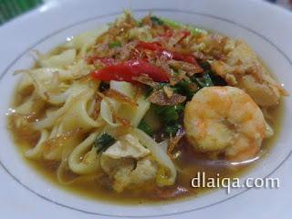 Fettuccine Kuah Udang ala Rika