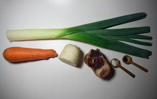 Sopa con setas shitake, pollo y verduras - ingredientes