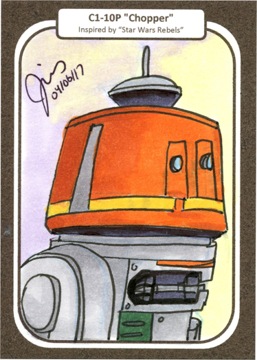 Chopper Sketch Card