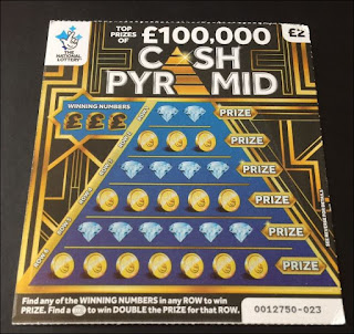 National Lottery 2018 Scratch Card - £2 Cash Pyramid