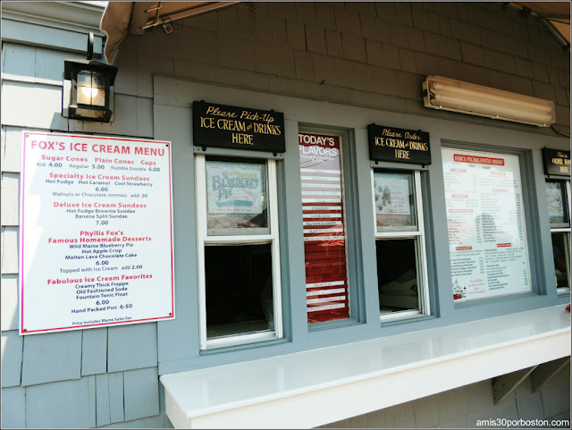 Lobster Shacks en la Costa Sur de Maine: Ventanillas del Fox's Lobster House