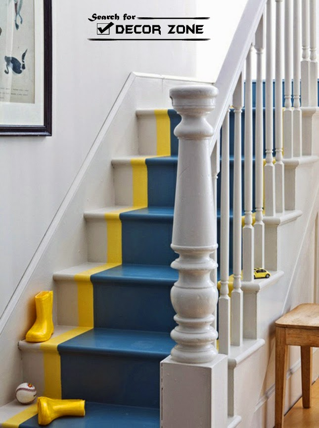 20 Painted Stairs Ideas A Way To Renovate Your Home