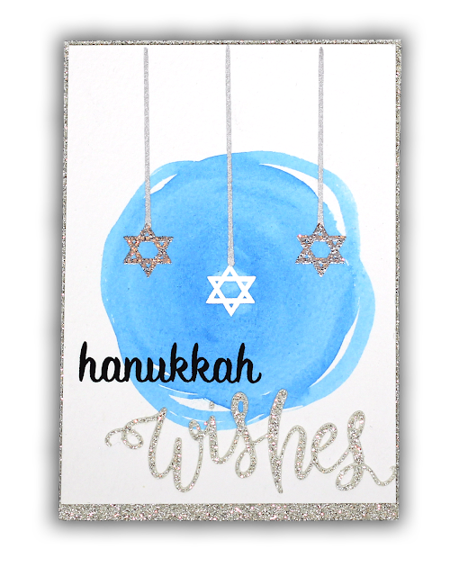 Hero Arts Hanukkah Wishes Card by Understand Blue