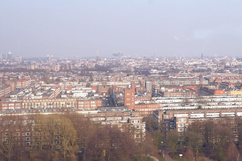 Aussicht über Amsterdam vom Floor 17