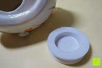 Stöpsel innen: Japanische Maneki Neko Glückskatze aus Porzellan (Klein, 12 cm)