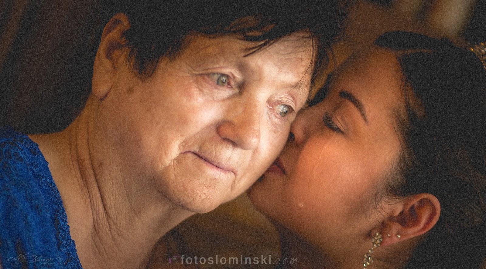 Wyjątkowe zdjęcie (ślubne) z babcią / Amazing (wedding) picture with grandmother.