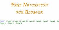 Phân trang trong bài viết cho blogspot