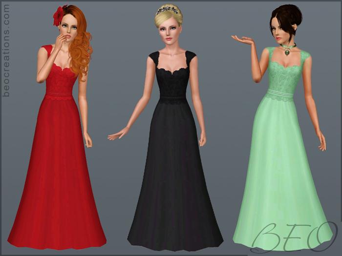 My Sims 3 Blog: Wedding Dress 11 By BEO