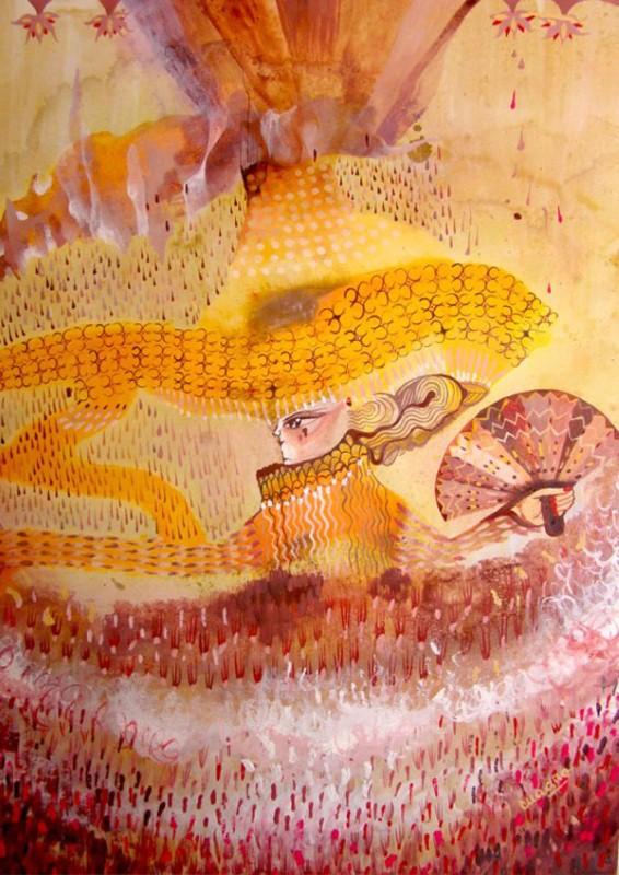 Наивные рисунки акварелью. Estela Cuadro 13