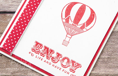 Enjoy Life and Have Fun Card featuring the Lift Me Up and Suite Salutations Stamp Sets from Stampin' Up! UK