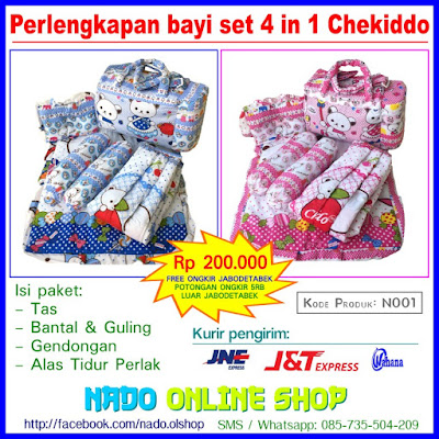 N001 - Perlengkapan bayi set 4 in 1 Chekiddo [kode produk N001] - Nado Online Shop Facebook