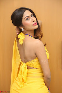 Nishigandha in Yellow backless Strapless Choli and Half Saree Spicy Pics 149.JPG