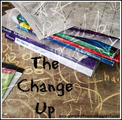 A Glimpse of Normal, change, unit studies, homeschool,