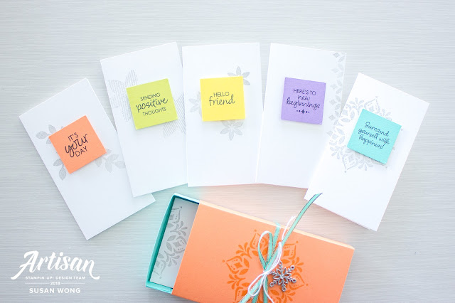 Happiness Surrounds by Stampin' Up! - easy card/gift set / class idea - Susan Wong for Artisan Design Team