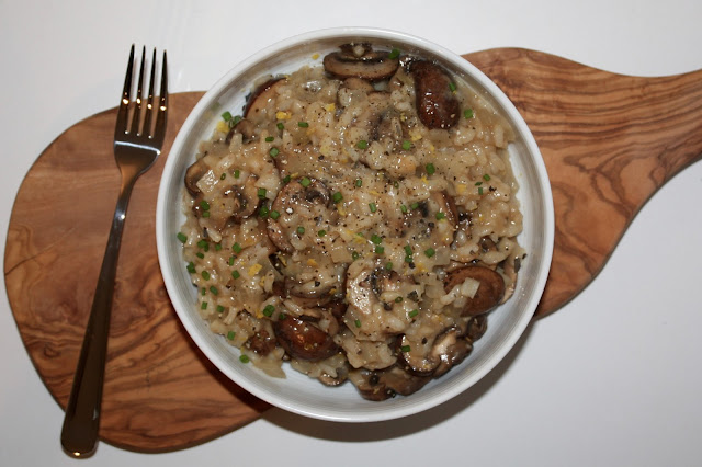 Easy and Healthy Mushroom Risotto Recipe, Vegetarian, Vegan