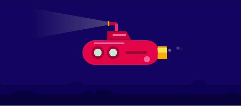 Submarine Animation - Pure CSS