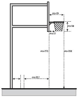 Ukuran Papan Ring Basket : ukuran, papan, basket, Ukuran, Papan,, Ring,, Jaring, Tiang, Basket, Lengkap, Penjasorkes