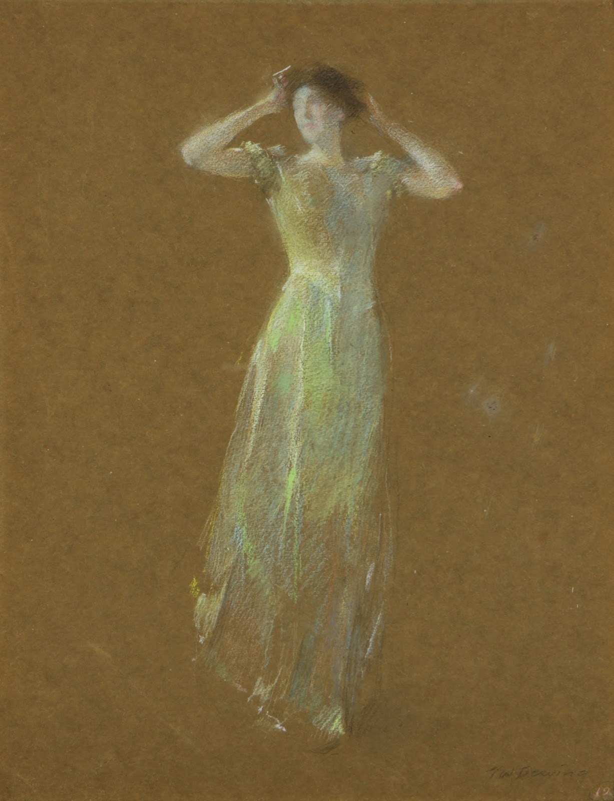 Dewing's Depictions of Disappearing Debutantes