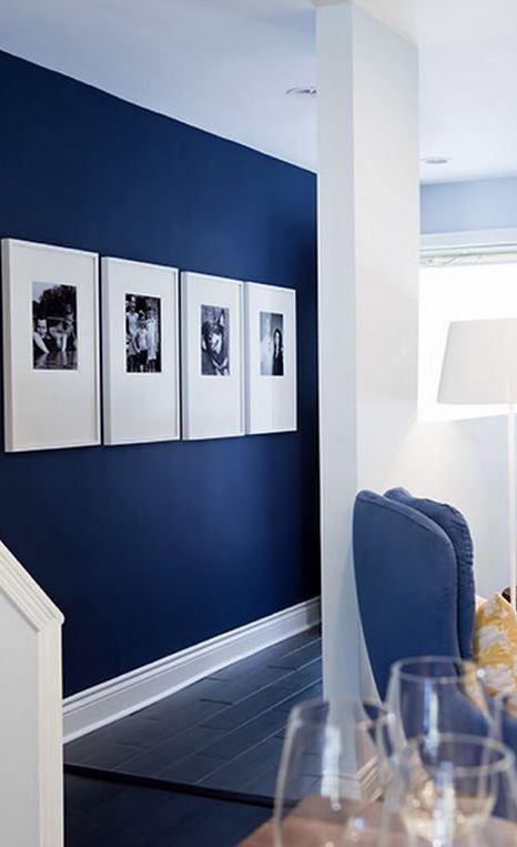 blue and white home interior design idea