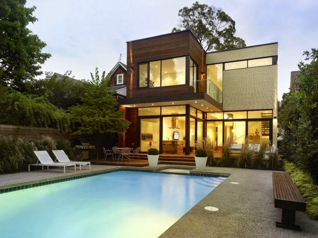 60 Desain Rumah Mewah 2 Lantai Dengan Kolam Renang Dilengkapi